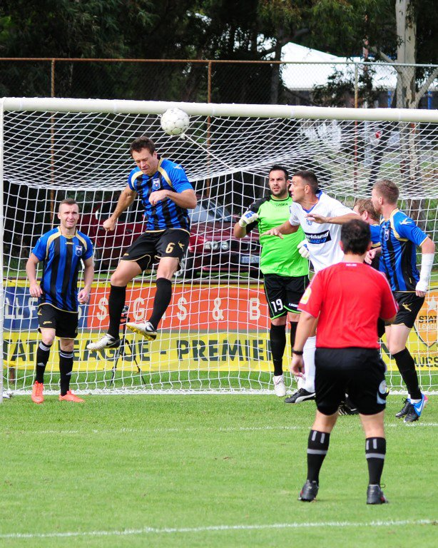 Bayswater City against Floreat Athena in Western Australia's Premier League. Photo courtesy Bayswater City