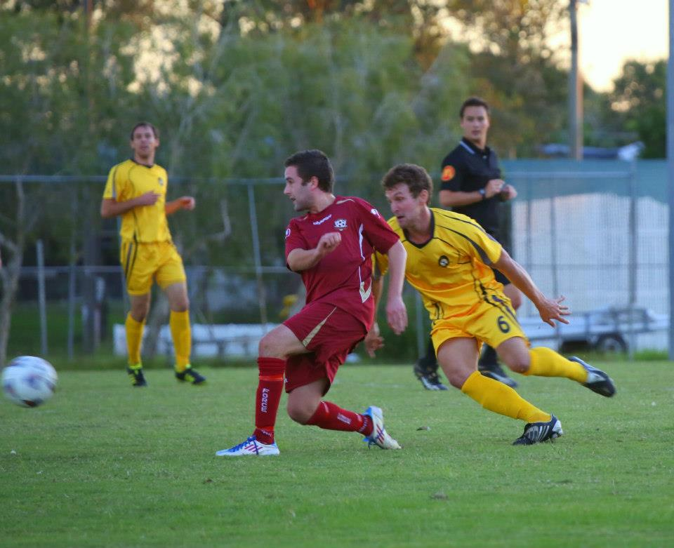 Action from the Brisbane Premier League as Wolves faced Brisbane Force. Photo courtesy of Wolves FC